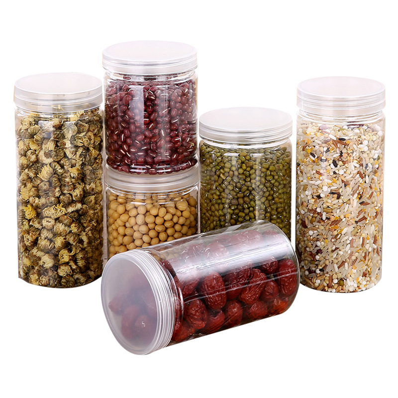 Plastic Cosmetics Pot Cover Food Container Kitchen Tools To Receive Travel Bottle Bottle