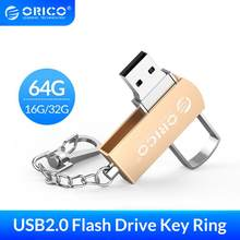 ORICO USB Flash sürücü 64GB 32GB 16GB 32GB 64GB USB 2.0 Metal Flash bellek USB bellek depolama Flash Disk USB 2.0 flash sürücü