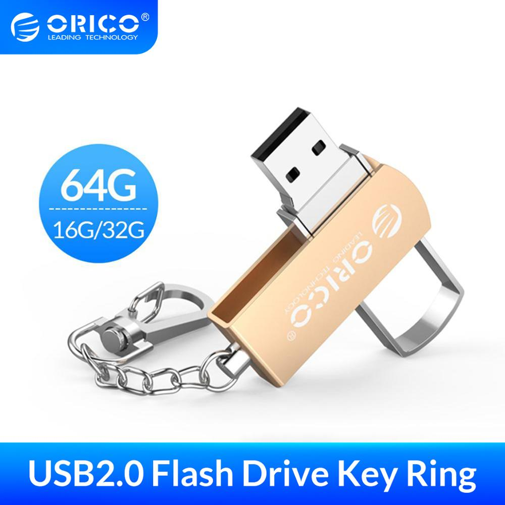 ORICO USB-Stick 64GB 32GB 16GB USB 2,0 Metall Flash Memory USB Stick Speicher Flash Disk USB 2,0-Stick