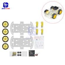Набор интеллектуальных автомобильных шасси diymore 4WD Robot, с кодовым датчиком скорости для Arduino 51 M26, комплект обучающих автомобилей DIY