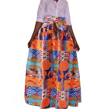 2019 أخبار ملابس السيدات فساتين الأفريقية للنساء Dashiki طباعة التنانير أزياء طويلة رداء أفريكان زائد الحجم أنثى أنقرة 2