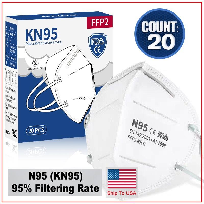 50 100Pcs FP2 Reusable N95-masks N95-mask Kn95-mask Facemask Ffpp2#37
