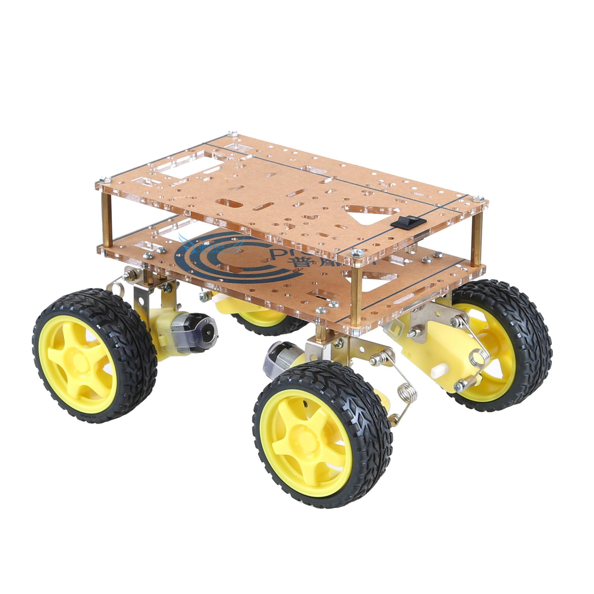 4WD Suspension Robot Car Chassis 5kg Load Intelligent Shock Absorption Free Battery Box For Arduino Wifi DIY Parts