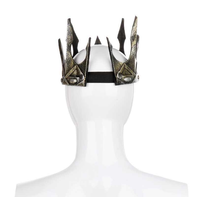 Impreza z okazji halloween starożytny stroik Larp Viking Corona Hombre średniowieczni mężczyźni królewski król korona tiary