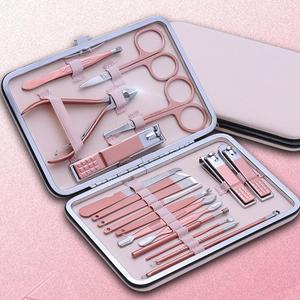 18/16/12/10/7pcs New Manicure Stainless Steel Nail Clippers Pedicure Set Portable Travel Hygiene Kit Nail Cutter Tool Set