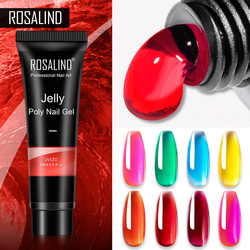 ROSALIND Poly Nail Gel Jelly Glaze Colors Extension Gel For Nails Art Design For Nail Builder Semi Permanent Hybrid Varnishes