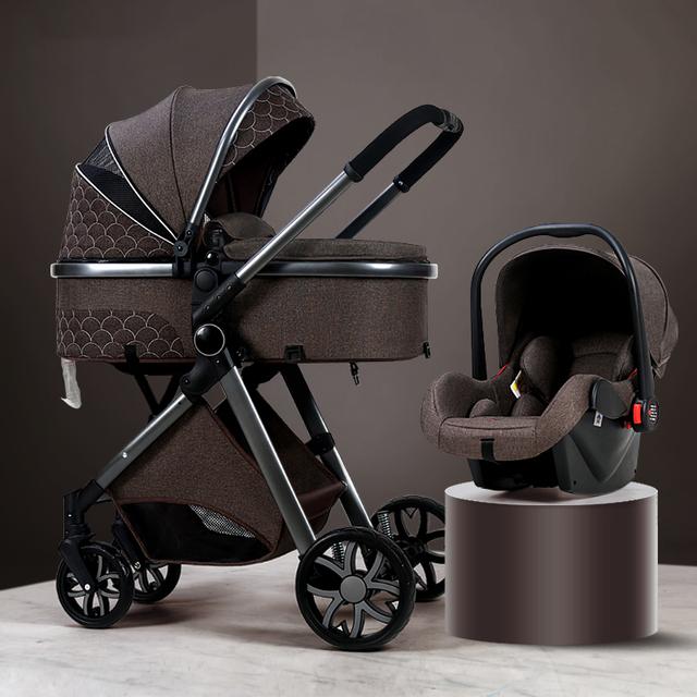 3 in 1 baby stroller lightweight reclining baby stroller