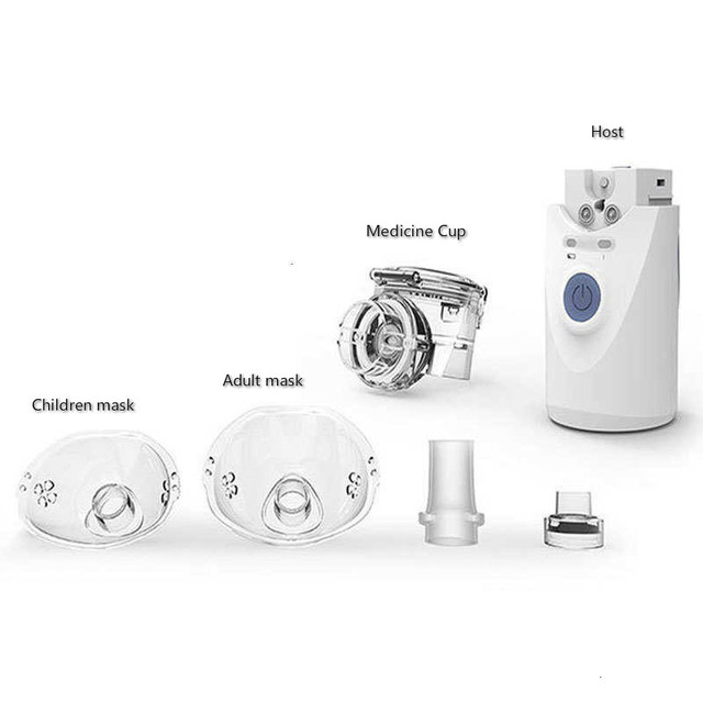 Health Care Mini Handheld portable Inhale Nebulizer silent Ultrasonic inalador nebulizador Children Adult Rechargeable Automizer 2