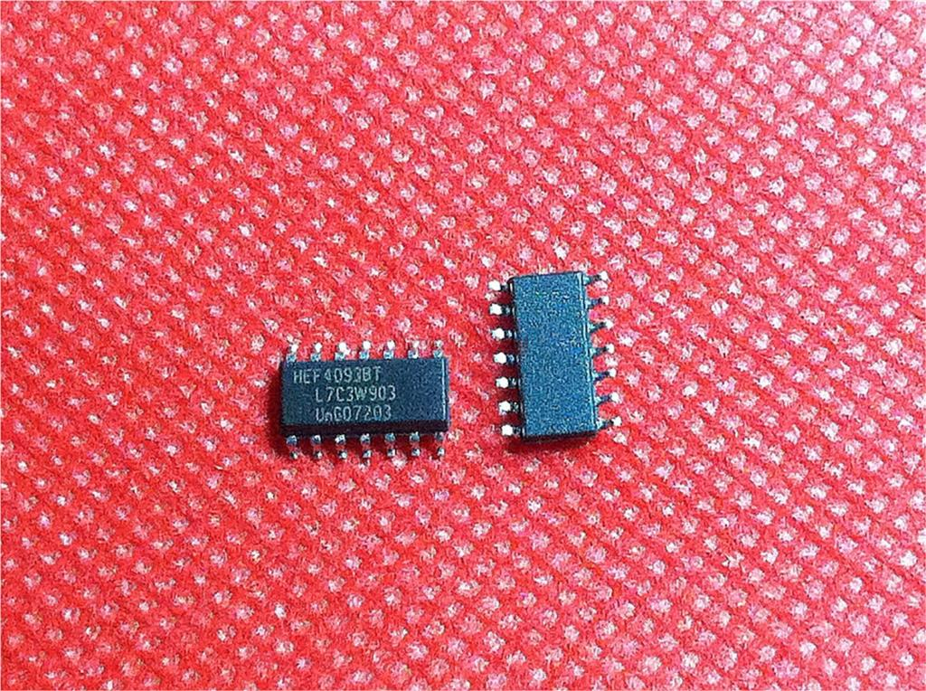 10pcs/lot HEF4093BT HEF4093 4093 SOP14 Logic Device Chip New Original