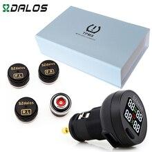SZDALOS TP200 TPMS לחץ אוויר בצמיגי רכב אלחוטי ניטור מערכת + 4 מיני חיישנים סיגריות צמיג ניטור לחץ