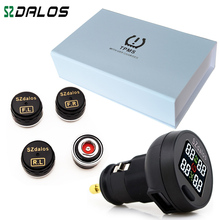 SZDALOS TP200 bezprzewodowy System monitorowania ciśnienia w oponach TPMS + 4 Mini czujniki monitorowania ciśnienia w oponach papierosów