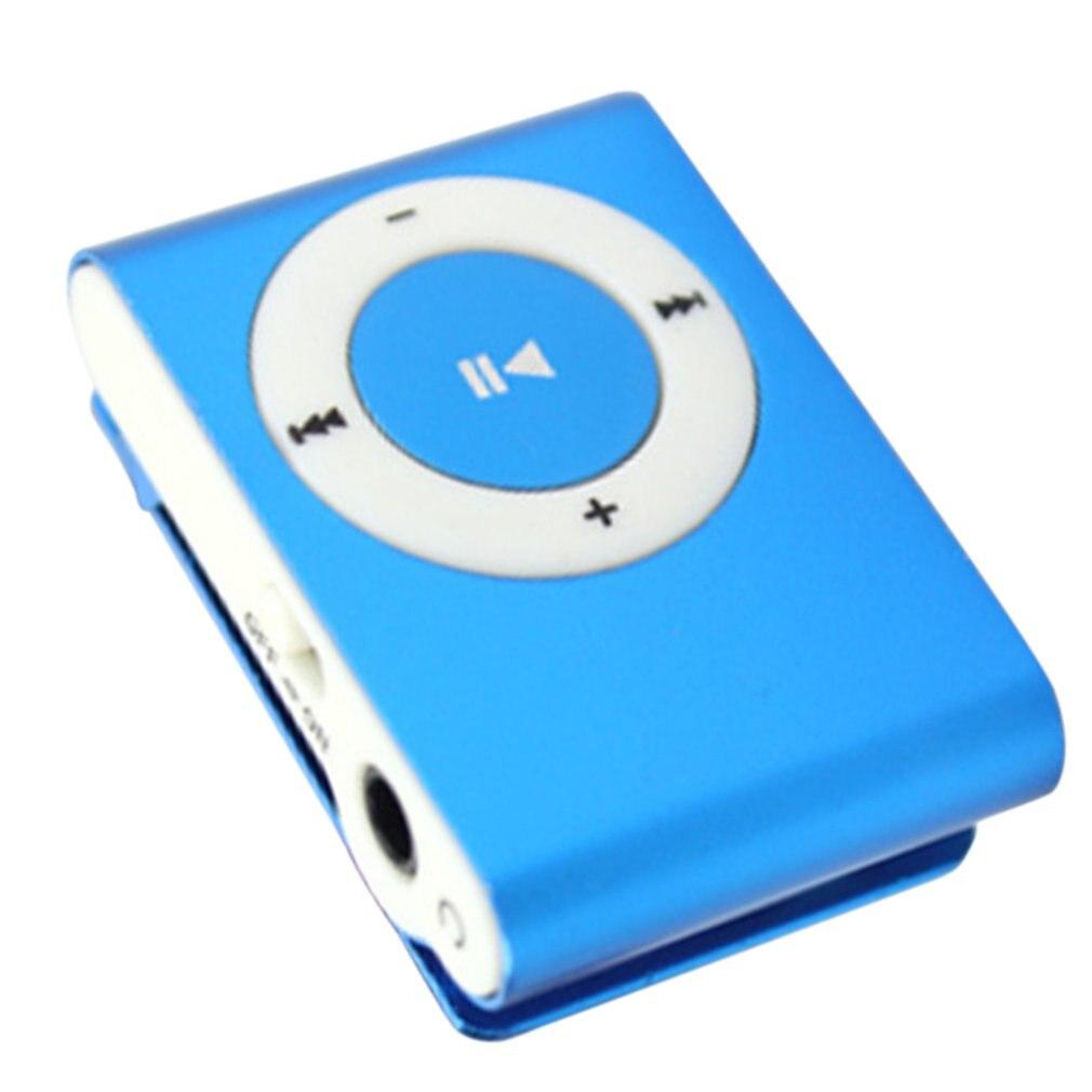 Металлический мини MP3-плеер с зажимом, Спортивная Цифровая Музыкальная поддержка, TF карта, mp3-плеер, USB 2,0 с разъемом для наушников 3,5 мм