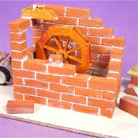 50 Uds. De Micro ladrillos de simulación 1:16, accesorio para casa de muñecas artesanía, piezas de juguetes para casa de muñecas para niños y adultos
