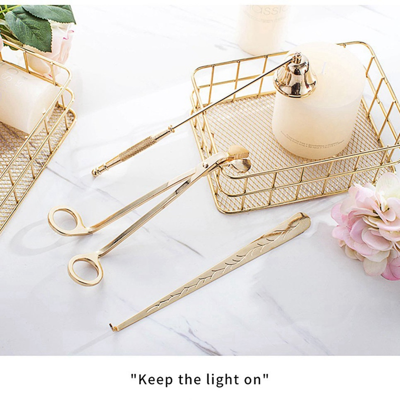 Candle Snuffer Candle Accessory Set, Best Gift With Wick Trimmer, Wick Dipper And Bell Snuffer