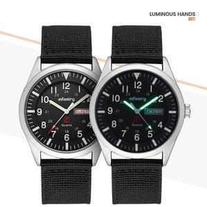 Image 4 - Infanterie militaire montre hommes lueur dans lobscurité montre bracelet hommes montres haut de gamme de luxe armée Sport Date étanche Relogio Masculino