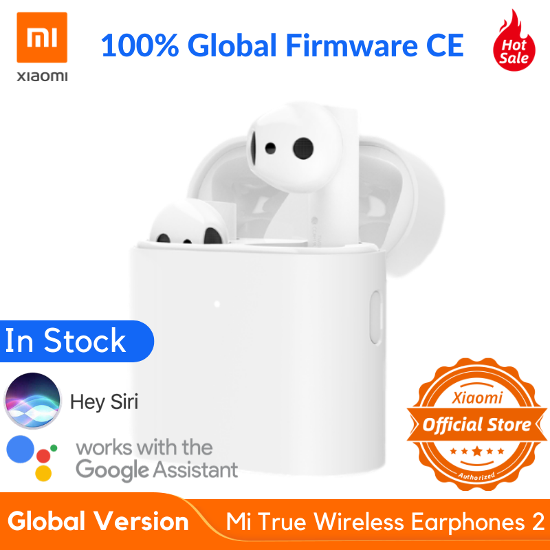 NEW Global Version XIAOMI Airdots Pro 2 Mi True Wireless Earphones 2 TWS Bluetooth 5.0 14H Battery Voice Assistant ENC LHDC【CE】