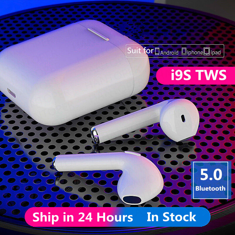 i9S TWS Wireless Bluetooth 5.0 Earphones Mini Earbuds Sport Handsfree Headphones Headset With Charging Box for All Smart Phones(China)