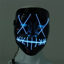 Led Mask Halloween Glowing in Dark Scary Party Masquerade Mask Festival Skull Mascara Light Cosplay Gift Wholesale Dropshipping