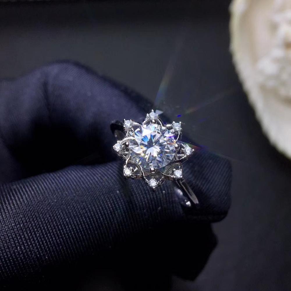 Anneau de pierre gemme moissanite coloré clignotant pour les femmes bijoux en argent cadeau de fête de fiançailles bijoux fins brillant mieux que le diamant