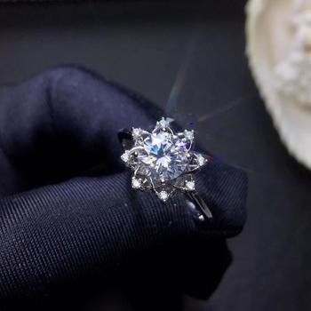 flashing colorful moissanite gemstone ring for women silver jewelry engagement party gift fine jewelry shiny better than diamond