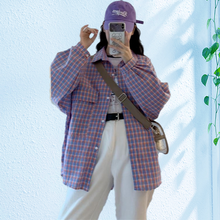 Клетчатая рубашка qweek женские осенние модные рубашки 2020