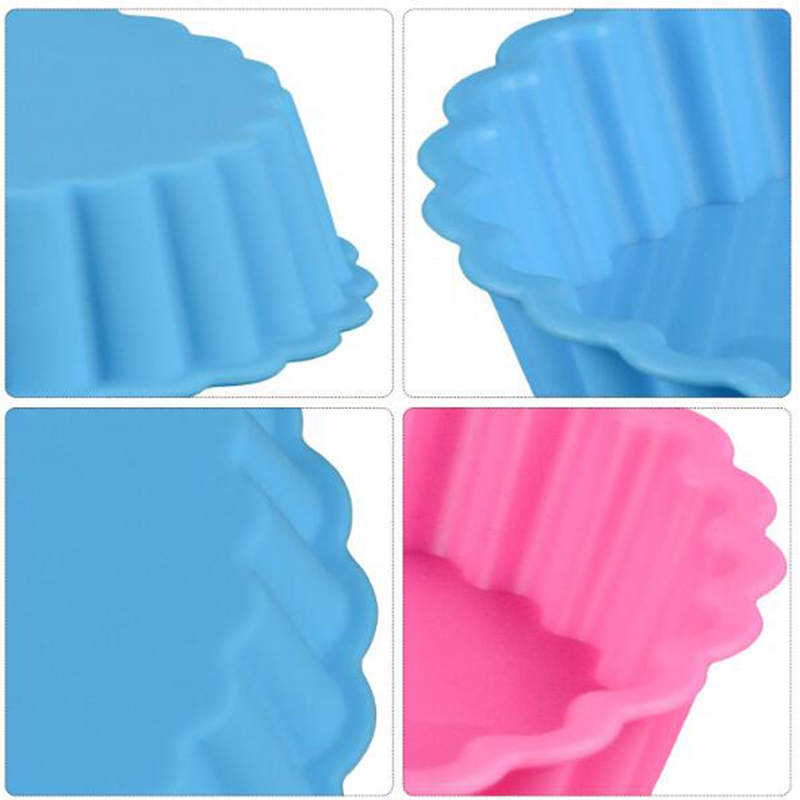 1PC Eco-friendly Silicone Bakeware in Round Shape Available in Random Colors for Baking Cup Cakes in Microwave Oven 5