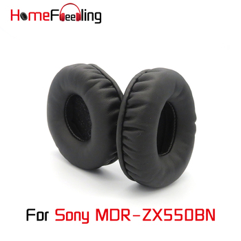 Homefeeling Ear Pads For Sony MDR ZX550BN MDR-ZX550BN Earpads Round Universal Leahter Repalcement Parts Ear Cushions yhcouldin ear pads for sony mdr cd570 mdr cd570 headphone replacement earpads ear cushions cups