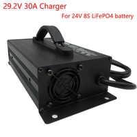 LiFePO4-cargador rápido de batería para carretilla elevadora, cargador de batería de 1200W, 29,2 V, 30A, 24V, 8S, 24V, envío gratuito con DHL