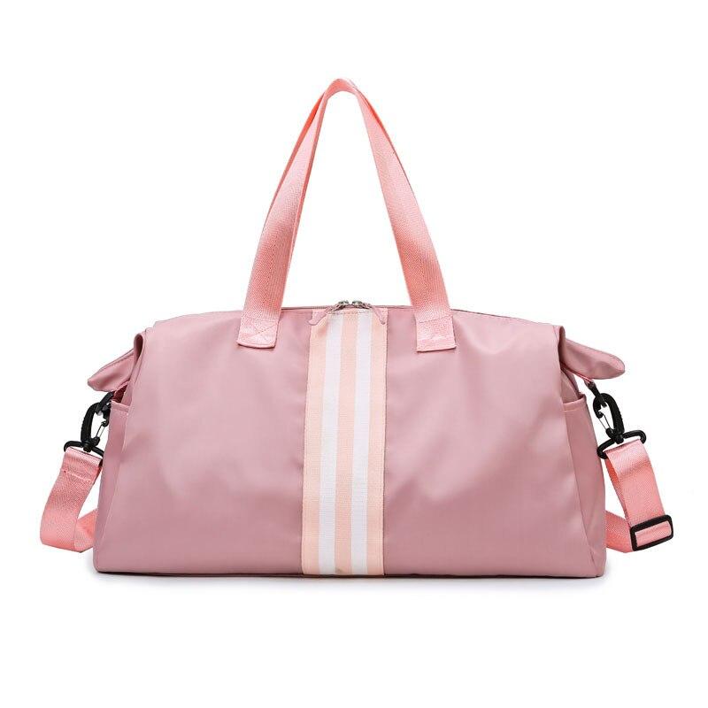 High Capacity Pink Gym Bag Women Dry Wet Handbags Waterproof Sport Bags For Fitness Training Yoga Sac De Sport