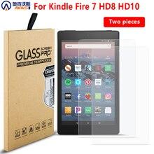 Закаленное стекло протектор экрана для amazon kindle fire 7 HD 8 HD10 устойчивый к царапинам защитный экран capa для kindle fire tablet