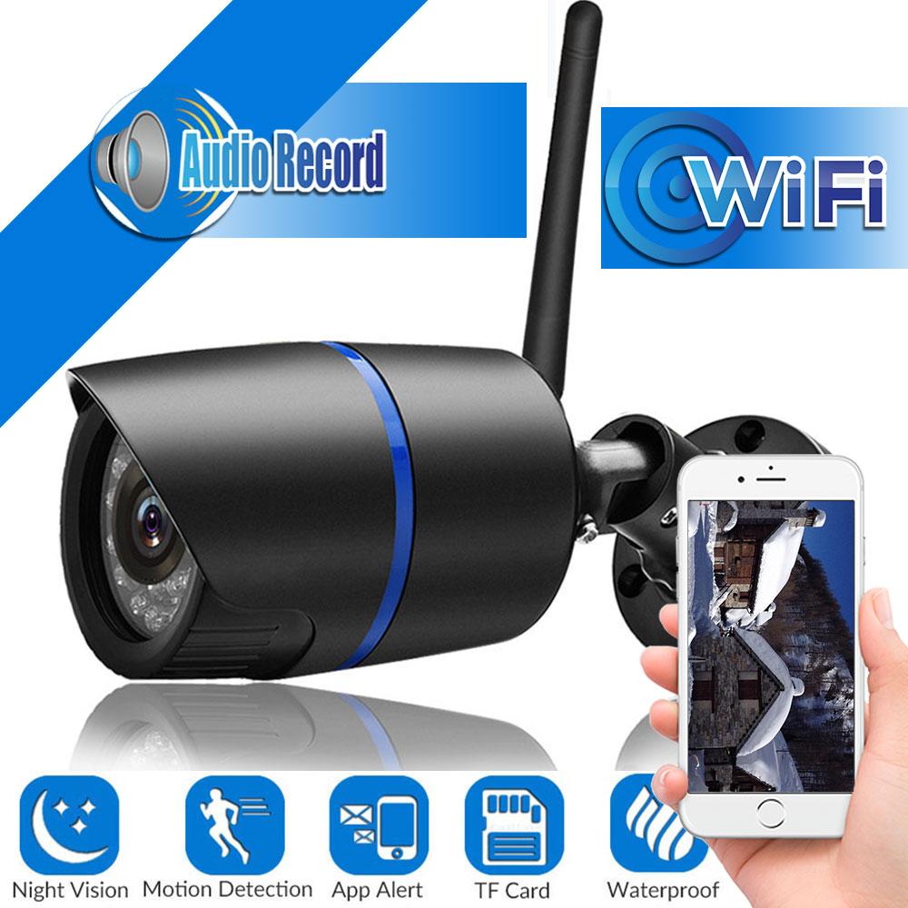 1080P Wifi Camera Outdoor Wireless Wired CCTV Camera Audio Record    720P IP Camera Yoosee APP With MiscroSD Card Slot