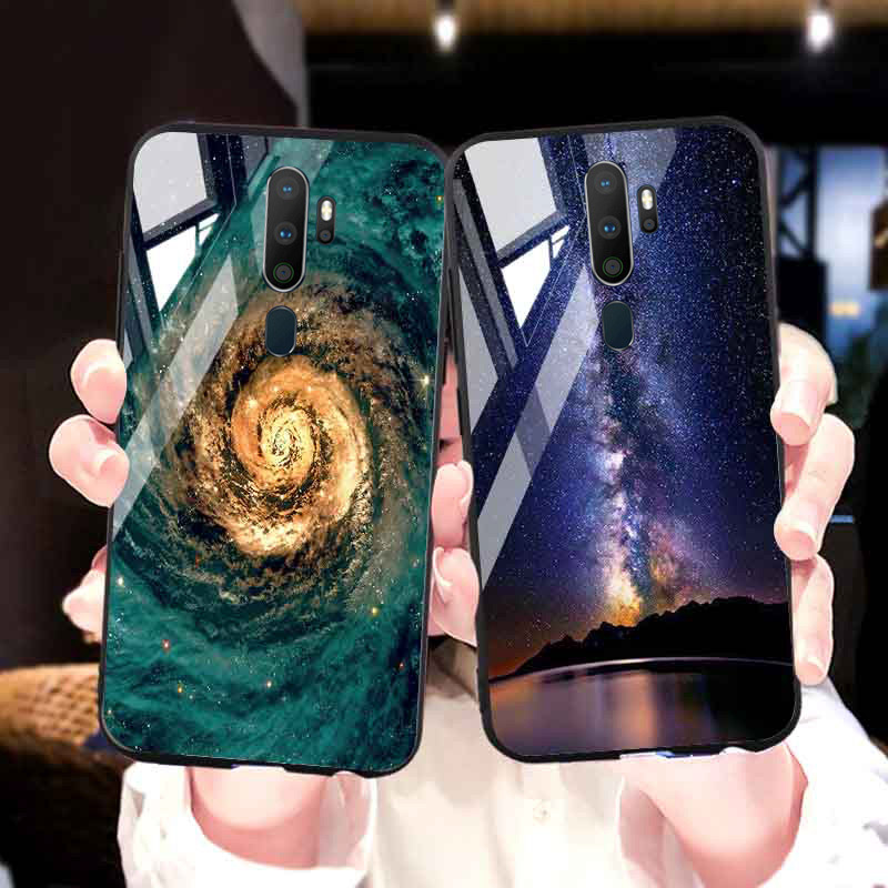 For <font><b>OPPO</b></font> A5 A9 2020 <font><b>Case</b></font> Tempered <font><b>Glass</b></font> Back Bumper Realme X2 Pro 5 X lite XT C2 A1k K1 F11 Reno 3 Pro 5G 2Z 2 Ace Z A7 <font><b>A3</b></font> Cover image