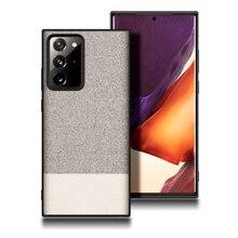 Pour Samsung Note 20 Plus Ultra Étui Tissu Silicone Housse Antichoc Pour Samsung S21 S20 Ultra Plus Note 10 Lite 9 8 Plus