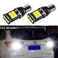 2x автомобиль T15 W16W светодиодный Canbus лампы 2835 Светодиодный светильник с высокой Мощность белый обратная задняя светильник для Toyota Highlander Audi A3 ...