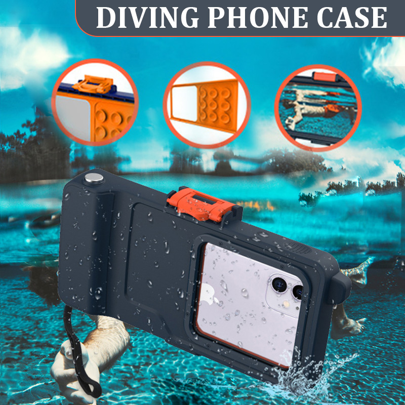 Waterproof Phone Case Drift Diving Swimming Bag Underwater Dry Bag Case Cover For Phone Beach Pool Photo Video Recording 23x12cm
