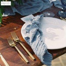 Amostras para guardanapos de gaze casamento cheesecloth guardanapos de jantar decoração de mesa de casamento