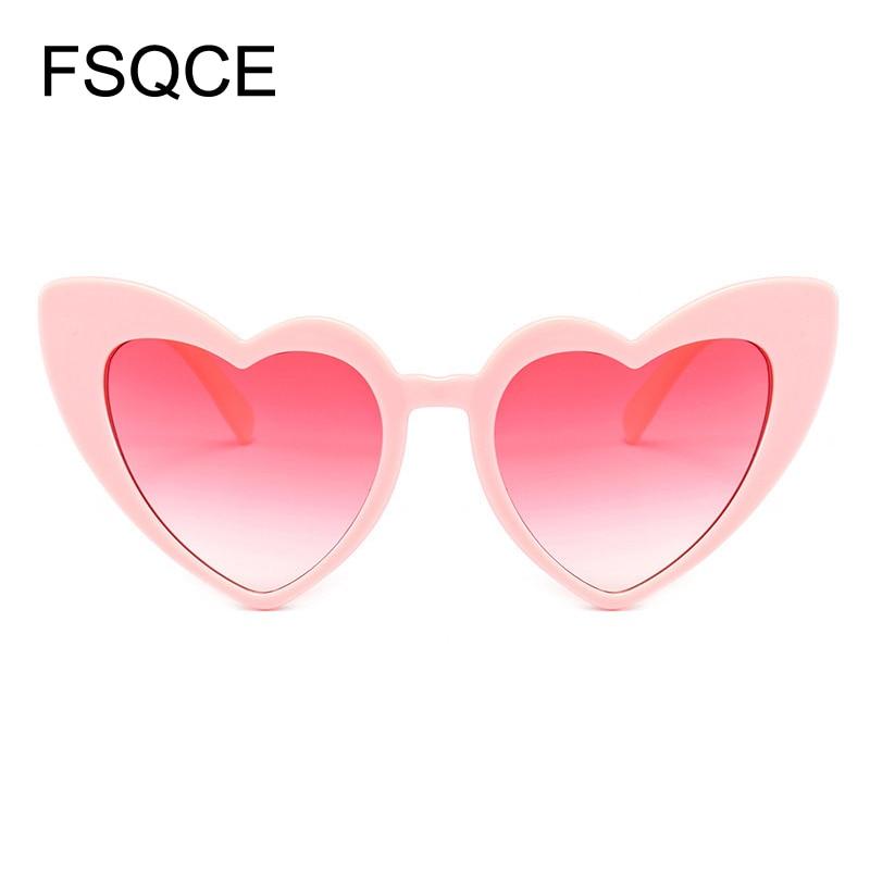 Round Sunglasses Heart Sunglasses Women brand designer Sun Glasses Retro Love Heart Shaped Glasses Ladies Shopping Sunglass UV