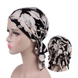 2020 Nieuwe Fashion Print Vrouw Tulband Hoed Zachte Elastische Bloemen Lady Moslim Hoofdtooi Wrap Hoofd Sjaal Hijab Caps Turbante Vrouwelijke