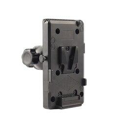 Battery Back Pack Adapter V-Lock Mount Camera Adapter Plate for Sony D-Tap DSLR Rig External