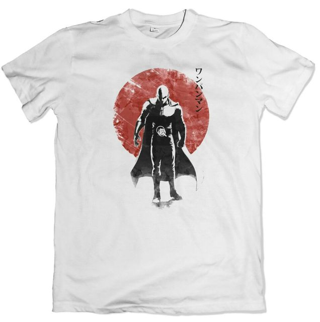 Japanese sun One punch man -white Loose Fit cotton T-Shirt unisex Manga fan Tee 100 cotton tee shirt and hoodies tops wholesale