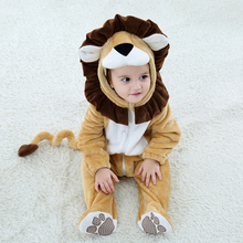 Newborn Baby Clothes Boy Girl Romper 0-3Y Baby Jumpsuits Cosplay Costume Infant Animal Lion Ropa Bebe Rompers Winter Outfit