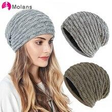 Molans 1 Pcs Hat Warm Knitted Hat for Men Women Fashion  Ear Protection Head Cap Winter Headwear Hair Accessories Hat Unisex Cap