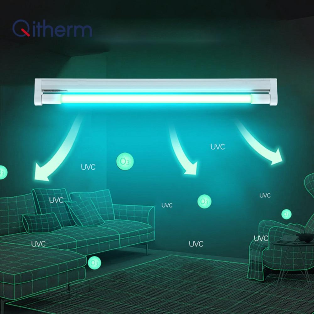 6W 8W UV LED Lamp Germicidal Sterilizer 110v 220v Ultraviolet Quartz Linear Light Ozone Generator Disinfection Deodor Bar Tube