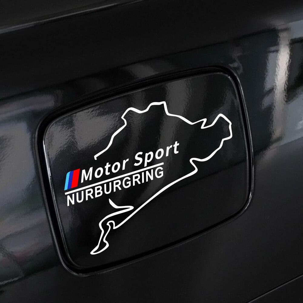 Наклейки крышки топливного бака Автомобиля Виниловые гонки Nurburgring для BMW E90 E60 E46 E39 E87 E36 E92 E91 E34 F30 E10 F20 F30 G30 X1 X3 X5 X6