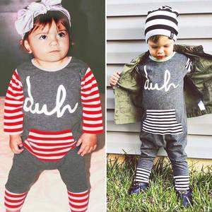 Baby Playsuit Newborn Outfits Romper Autumn Boy Cotton Winter Cute Strips
