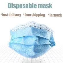 Einweg Maske Gesicht Mund Schützen 3 Schichten Filter Staubdicht Ohrbügel für Haar Salon Verwenden Mund Masken Freies schnelles Verschiffen