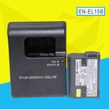 Batterie de caméra ENEL15b EN EL15b, EN-EL15b, 1 pièce, pour Nikon Z6 Z7 D850 D810 D750 D610 D7500, sans miroir, avec chargeur MH-25A