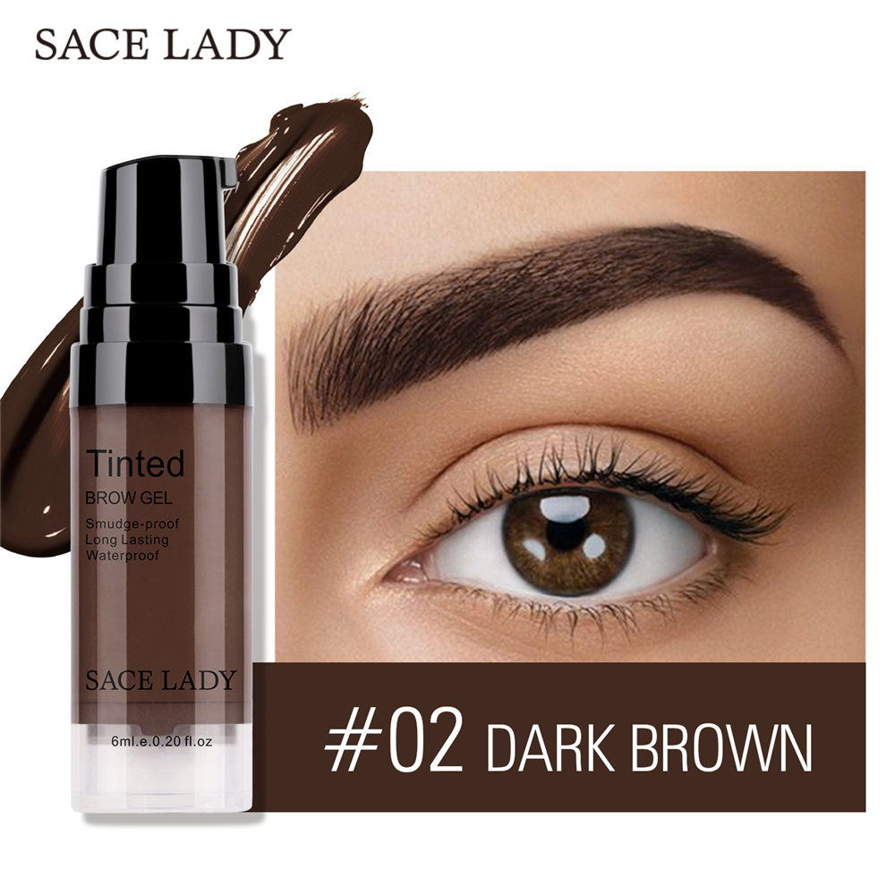 SACE LADY Waterproof Eyebrow Gel Makeup Henna Shade For Eye Brow Tint Natural Enhancer Make Up Cream Long Lasting Brand Cosmetic