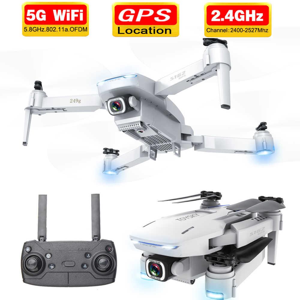 2020 nuevo S162 Drone gps 4K HD 1080P 5G wifi fpv quadcopter vuelo 20 minutos distancia Rc 500m dron inteligente volver drones pro Juguetes