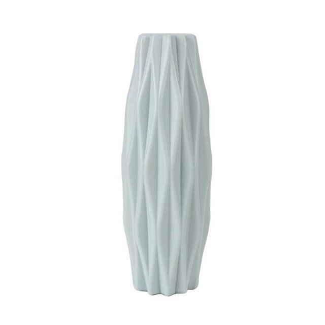 Origami Plastic Vase Imitation Ceramic Flower Pot Flower Basket Flower Vase Decoration Home Nordic Decoration 5